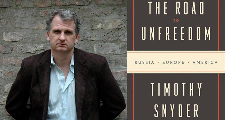 'De weg naar onvrijheid' van Timothy Snyder